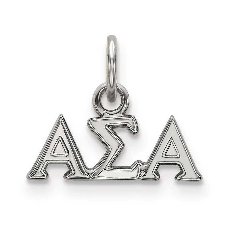SS001ASI: Sterling Silver LogoArt Alpha Sigma Alpha XS Pendant