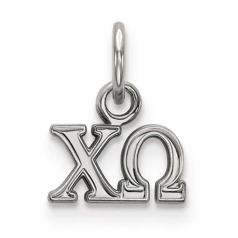 SS001CHO: Sterling Silver LogoArt Chi Omega XS Pendant