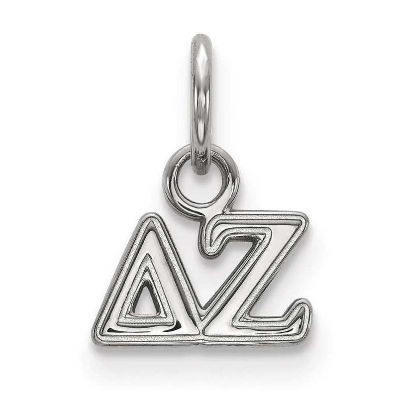 SS001DZ: Sterling Silver LogoArt Delta Zeta XS Pendant