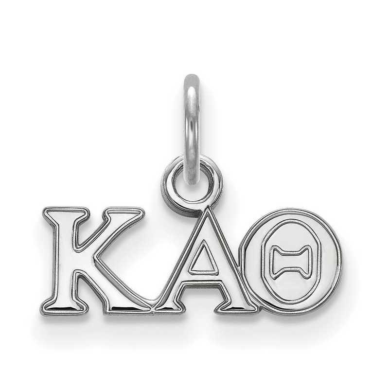 SS001KAT: Sterling Silver LogoArt Kappa Alpha Theta XS Pendant