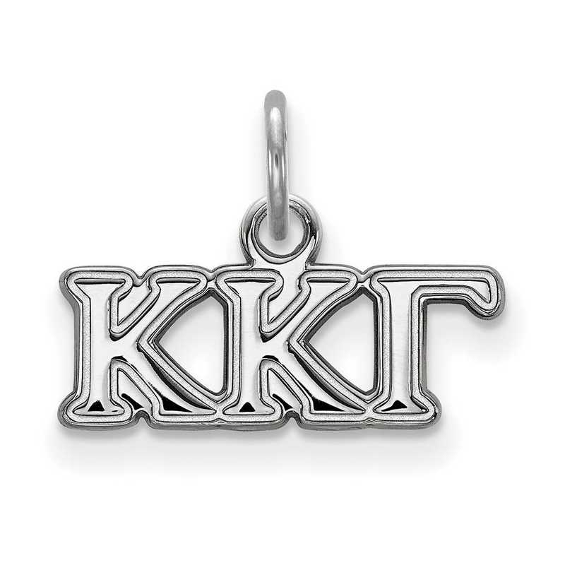 SS001KKG: Sterling Silver LogoArt Kappa Kappa Gamma XS Pendant