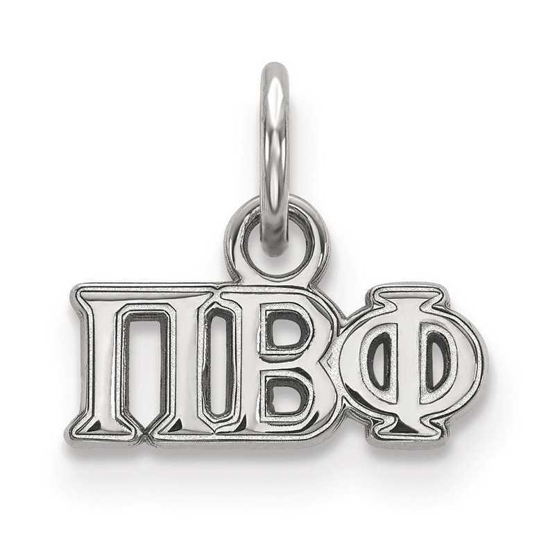 SS001PBP: Sterling Silver LogoArt Pi Beta Phi XS Pendant