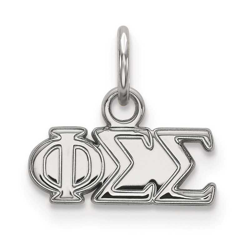 SS001PSS: Sterling Silver LogoArt Phi Sigma Sigma XS Pendant