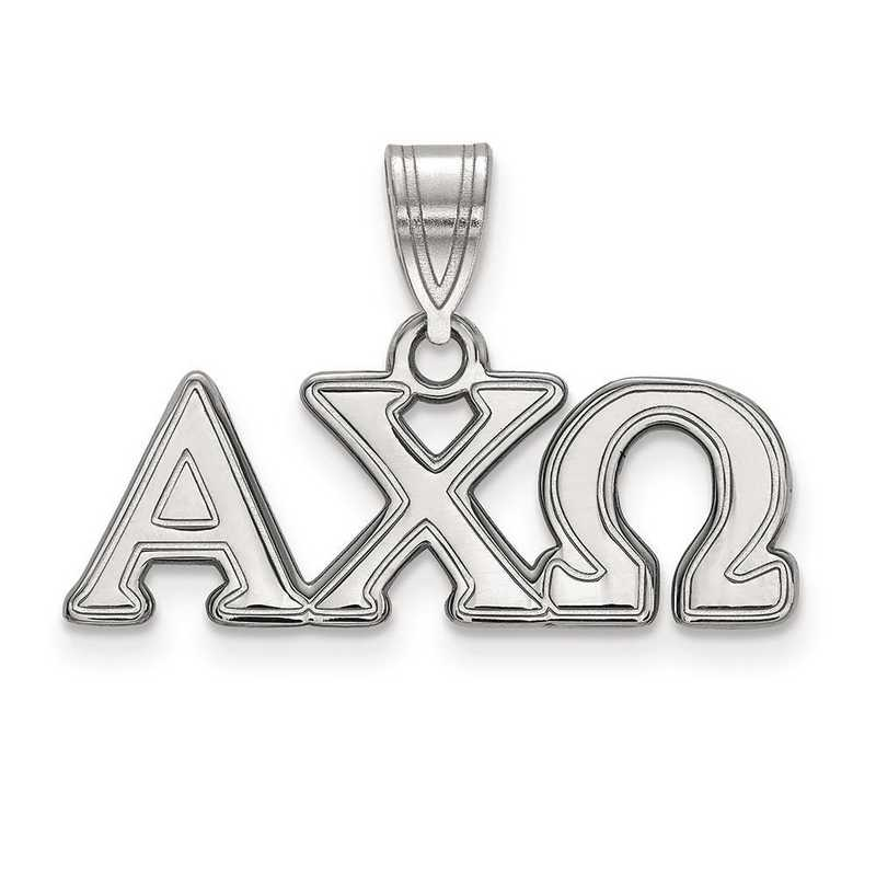 SS003ACO: Sterling Silver LogoArt Alpha Chi Omega Medium Pendant