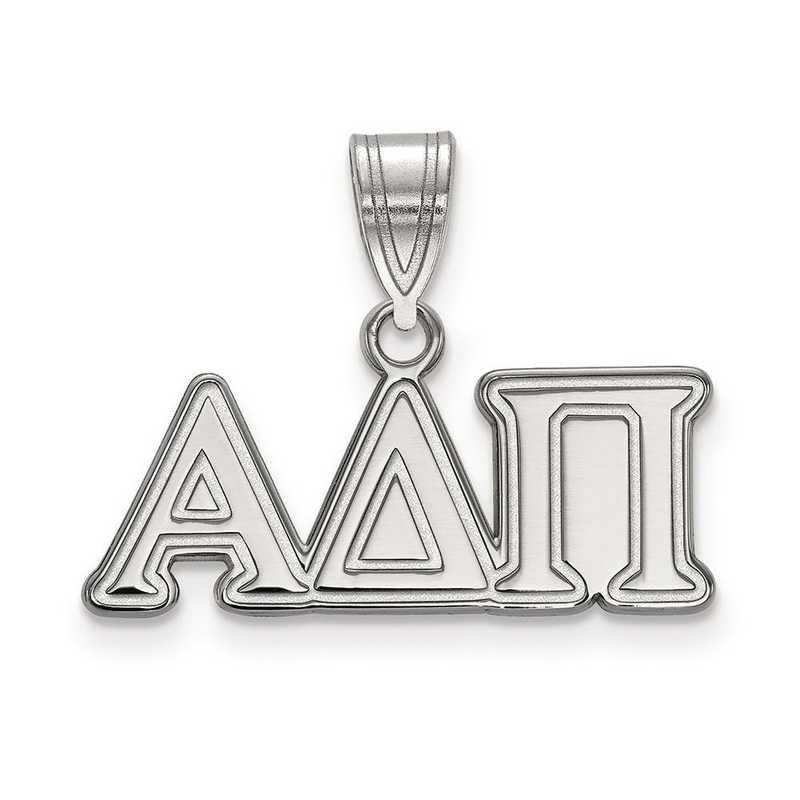 SS003ADP: Sterling Silver LogoArt Alpha Delta Pi Medium Pendant