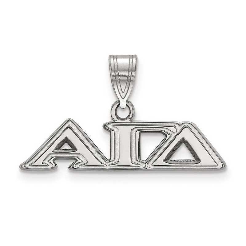 SS003AGD: Sterling Silver LogoArt Alpha Gamma Delta Medium Pendant