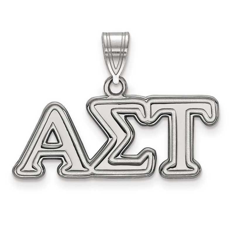 SS003ALS: Sterling Silver LogoArt Alpha Sigma Tau Medium Pendant