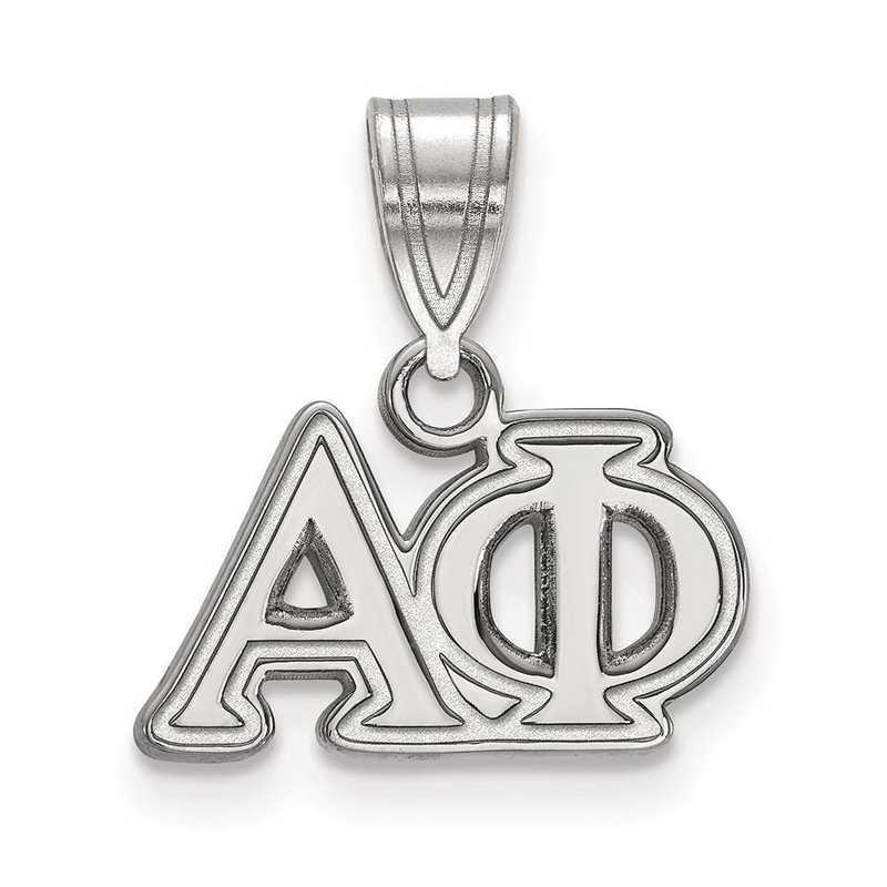 SS003APH: Sterling Silver LogoArt Alpha Phi Medium Pendant