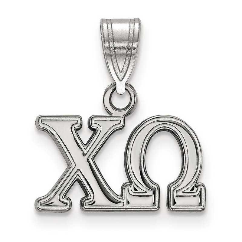 SS003CHO: Sterling Silver LogoArt Chi Omega Medium Pendant