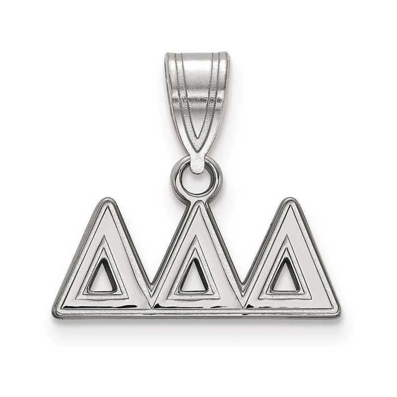 SS003DDD: Sterling Silver LogoArt Delta Delta Delta Medium Pendant