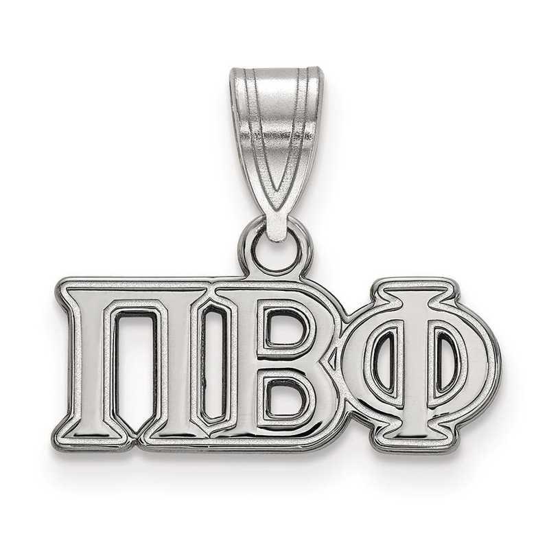 SS003PBP: Sterling Silver LogoArt Pi Beta Phi Medium Pendant