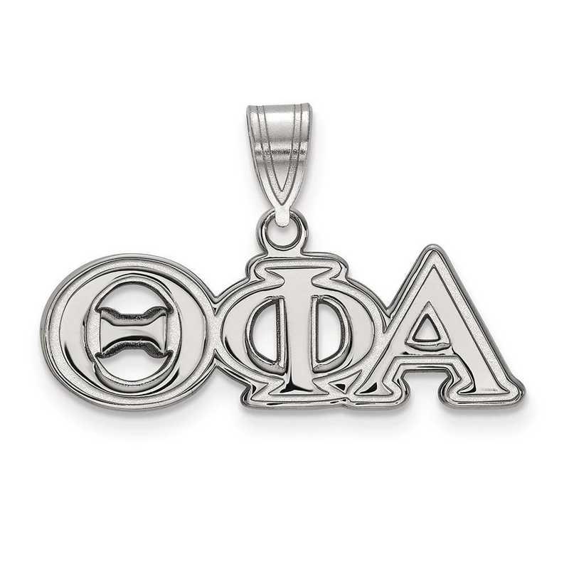 SS003TPA: Sterling Silver LogoArt Theta Phi Alpha Medium Pendant