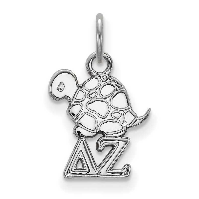 SS034DZ: Sterling Silver LogoArt Delta Zeta XS Pendant