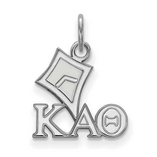 SS034KAT: Sterling Silver LogoArt Kappa Alpha Theta XS Pendant