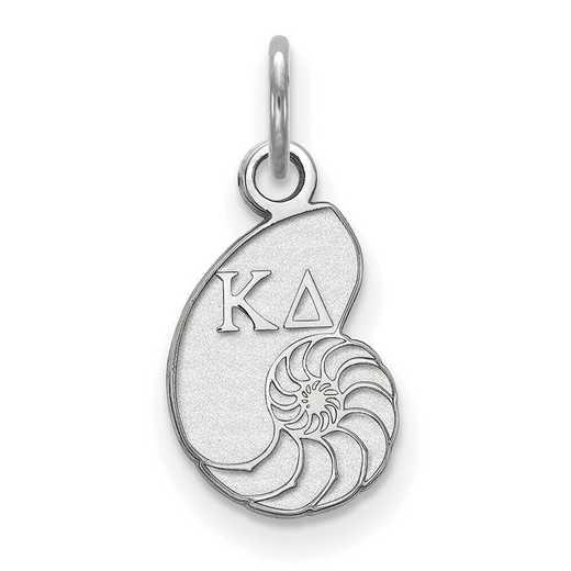 SS034KD: Sterling Silver LogoArt Kappa Delta XS Pendant