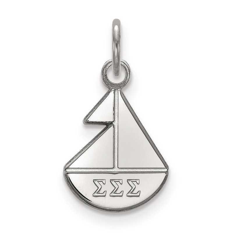 SS034SSS: Sterling Silver LogoArt Sigma Sigma Sigma XS Pendant