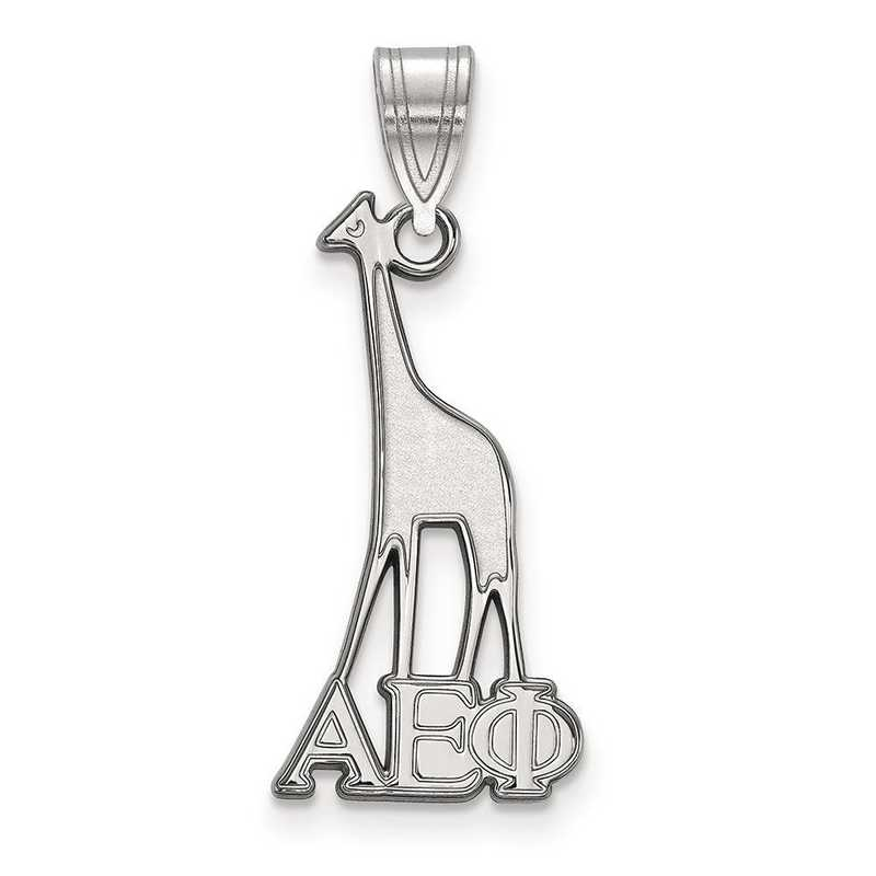 SS036AEP: Sterling Silver LogoArt Alpha Epsilon Phi Medium Pendant