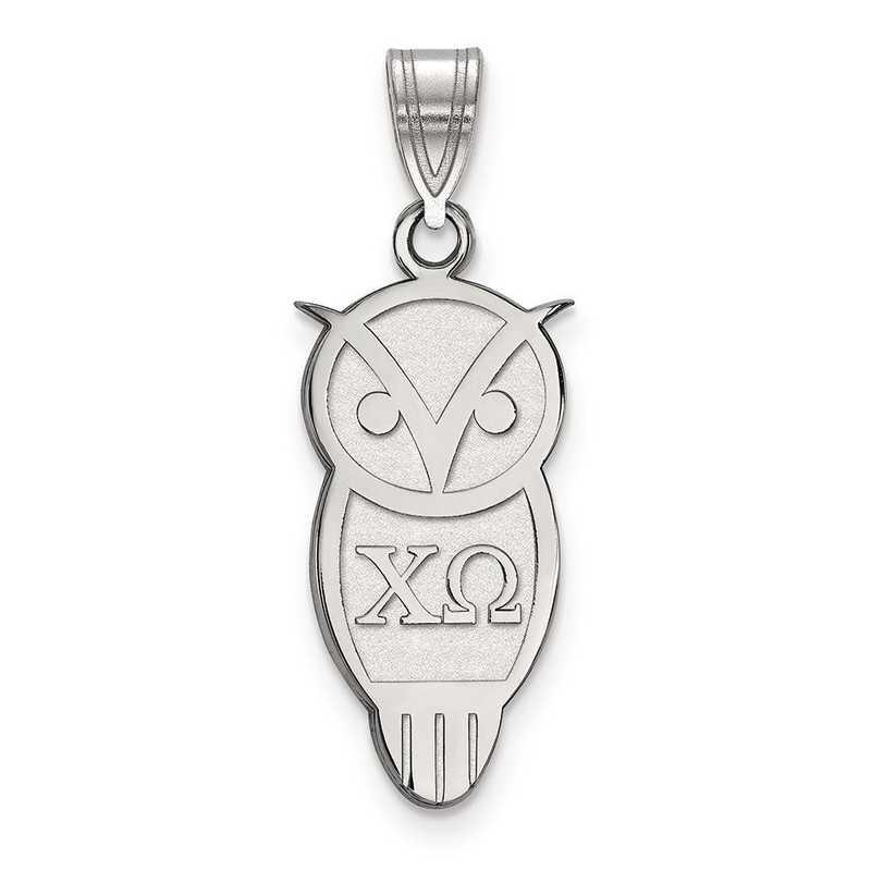 SS036CHO: Sterling Silver LogoArt Chi Omega Medium Pendant