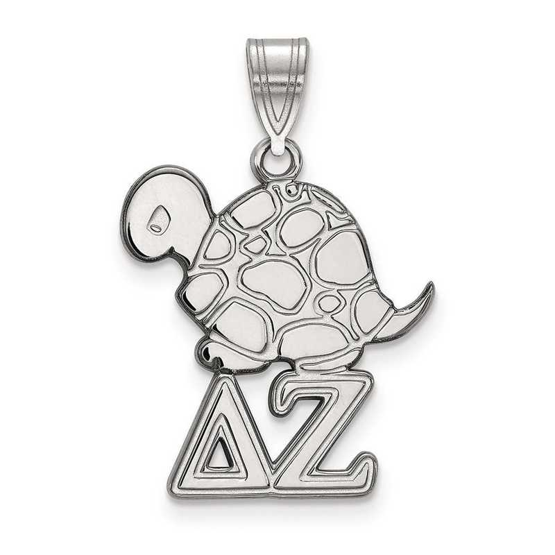 SS036DZ: Sterling Silver LogoArt Delta Zeta Medium Pendant