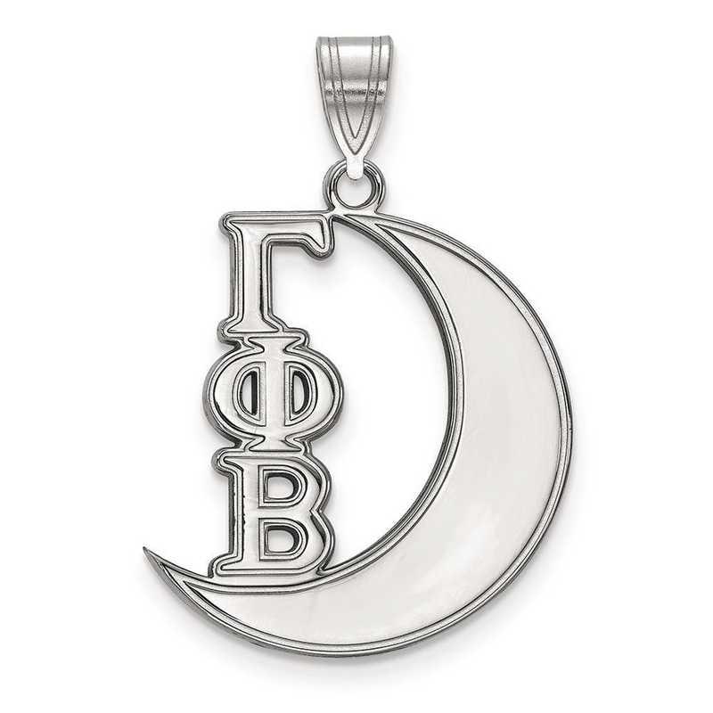 SS036GPB: Sterling Silver LogoArt Gamma Phi Beta Medium Pendant