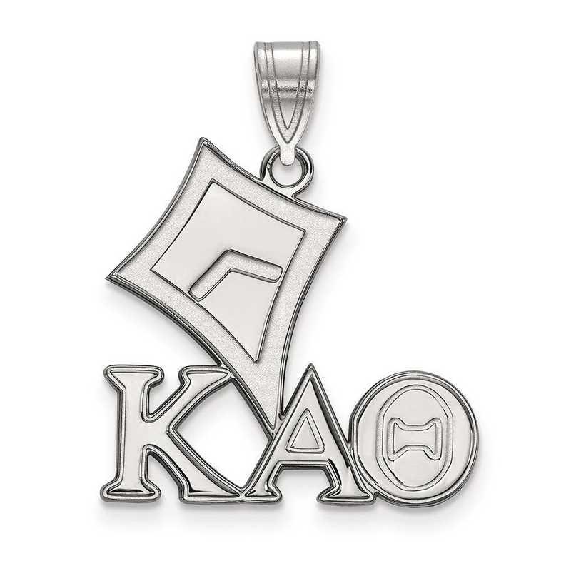 SS036KAT: Sterling Silver LogoArt Kappa Alpha Theta Medium Pendant
