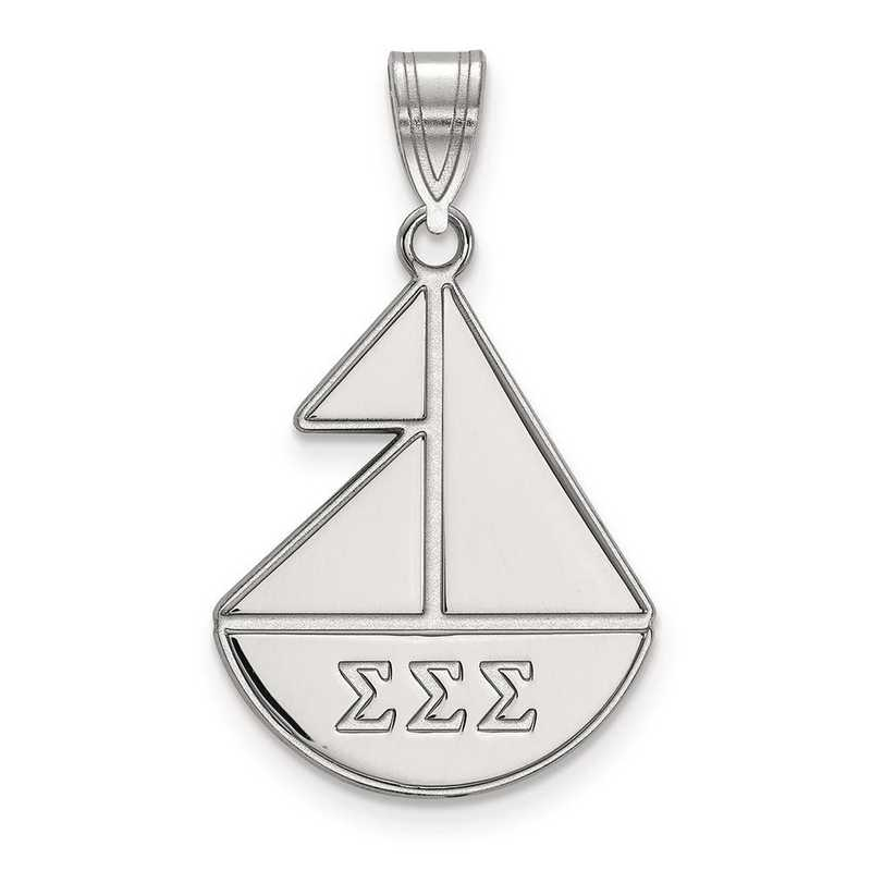 SS036SSS: Sterling Silver LogoArt Sigma Sigma Sigma Medium Pendant