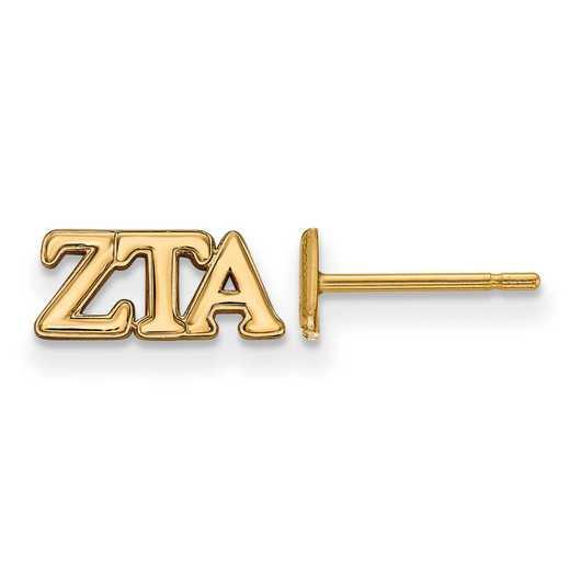 GP005ZTA: 925 YGFP Logoart ZTA Post Earrings