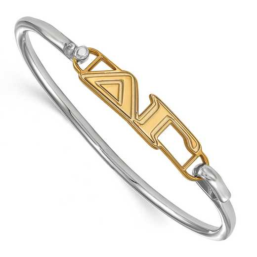 Delta Gamma Sterling Silver Yellow Gold Flash Plated Bangle