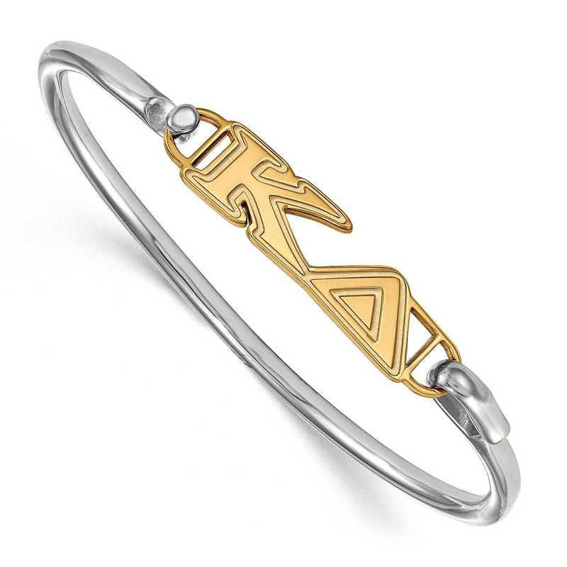 Kappa Delta Sterling Silver Yellow Gold Flash Plated Bangle