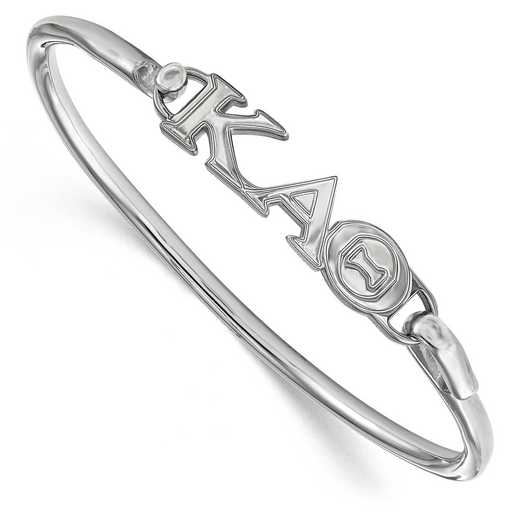 Kappa Alpha Theta Sterling Silver Bangle