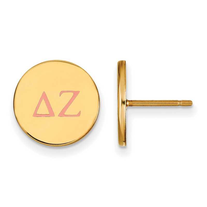 GP032DZ: 925 YGFP Delta Zeta Enml Post Ears