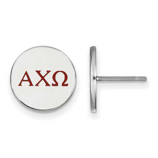 SS032ACO: 925 Alpha Chi Omega Enml Post Ears