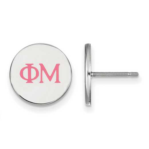 SS032PHM: 925 Phi Mu Enml Post Ears