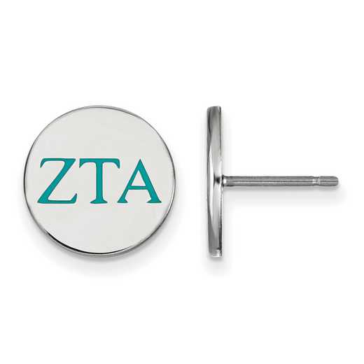 SS032ZTA: 925 Zeta Tau Alpha Enml Post Ears
