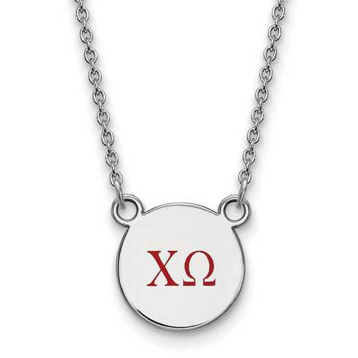 SS027CHO-18: 925 Chi Omega Sml Enl Neck