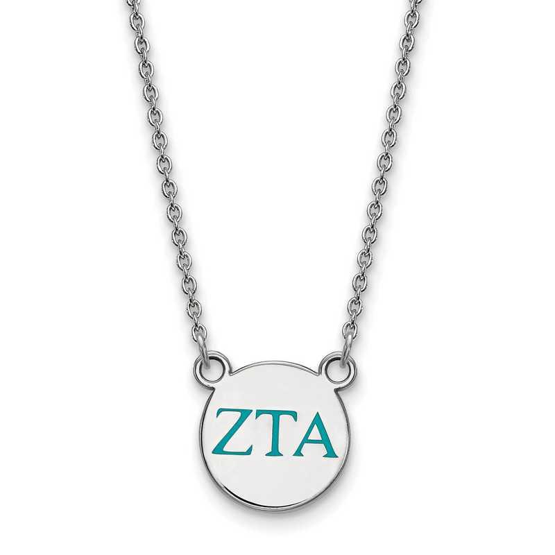 SS027ZTA-18: 925 Zeta Tau Alpha Sml Enl Neck