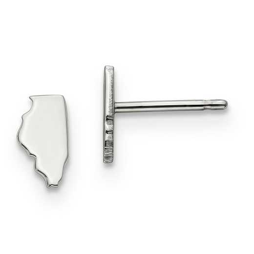 XNE50SS-IL: 925 Illinois State Earrings