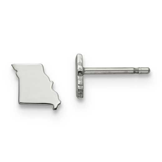 XNE50SS-MO: 925 Missouri State Earrings