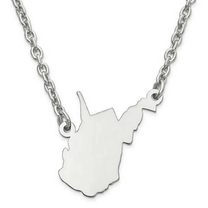 XNA706SS-WV: 925 WEST VIRGINIA STATE PENDANT W CHAIN
