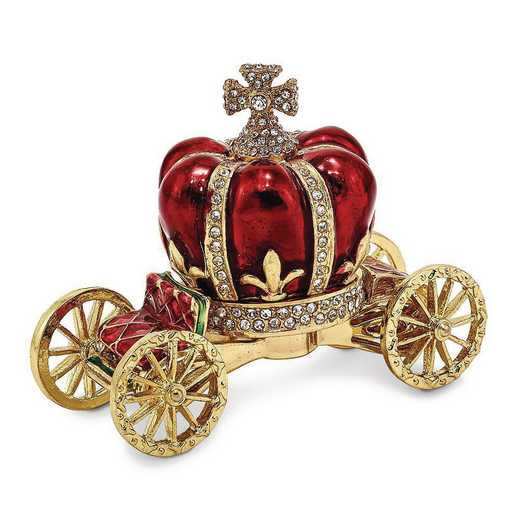 BJ2019: Bejeweled HER MAJESTY'S CROWN Carriage Trinket Box