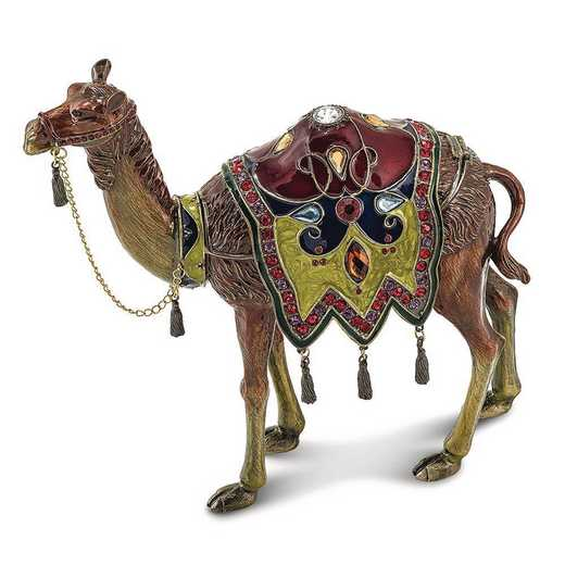 BJ2023: Bejeweled ALI Prince of the Desert Large Camel Trinket Box