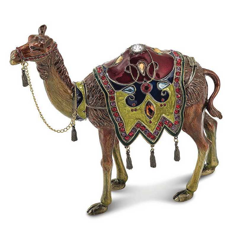 BJ2023: Bejeweled ALI Prince of the Desert Large Camel Trinket Box