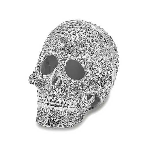 BJ2071: Bejeweled TREASURE TROVE Full Crystal Skull Trinket Box