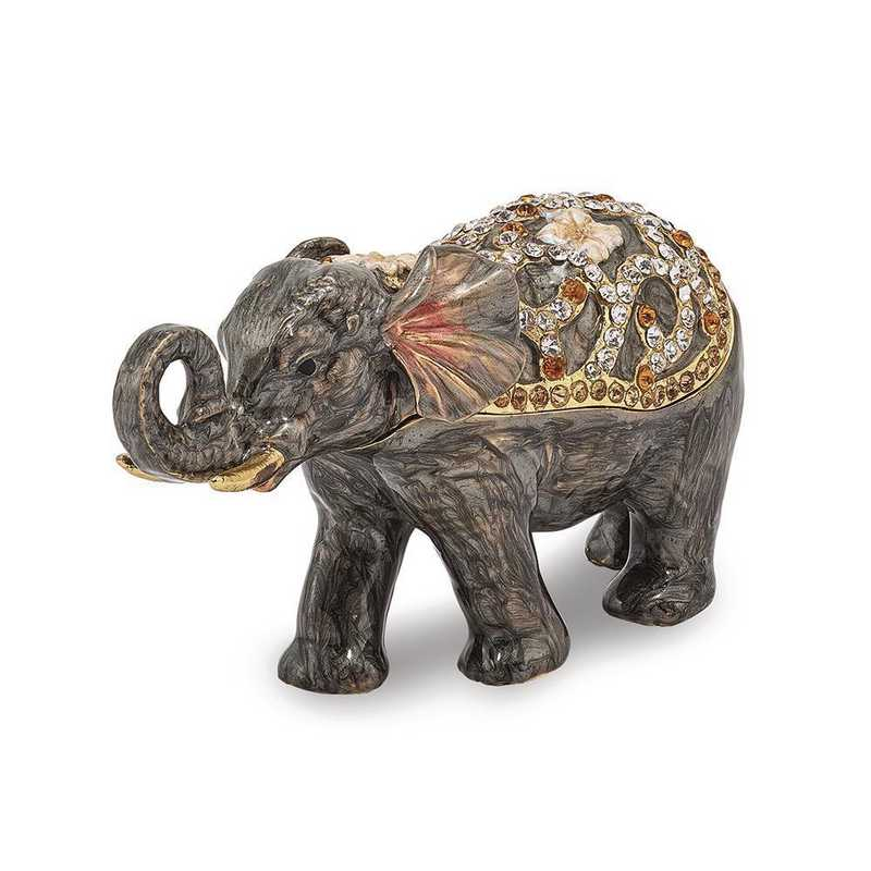 BJ2112: Bejeweled PRINCESS JAIPUR Elephant Trinket Box