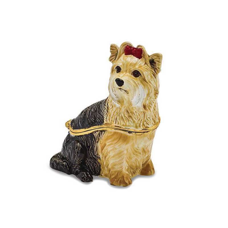 BJ2116: Bejeweled KIMBERLY Yorkshire Terrier Trinket Box