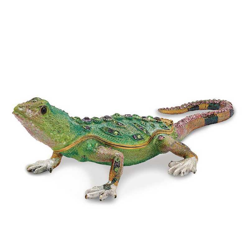 BJ2140: Bejeweled MOJAVE JOE Lizard Trinket Box
