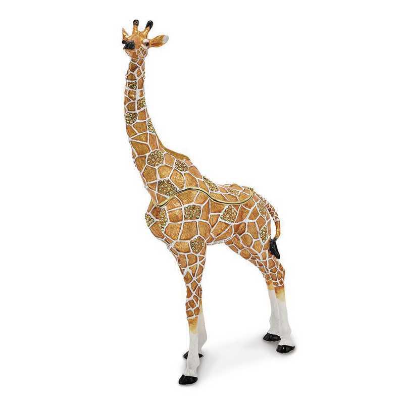 BJ2142: Bejeweled ELLISON Elegant Giraffe Trinket Box