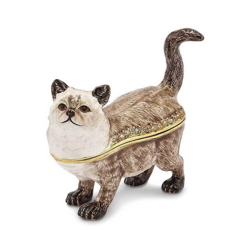 BJ2169: Bejeweled LAYSA Himalayan Cat Trinket Box