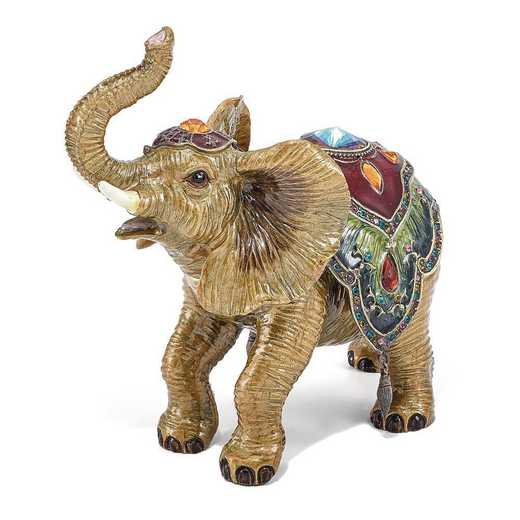 BJ3057: Bejeweled TALLIE Taj Mahal Elephant Trinket Box