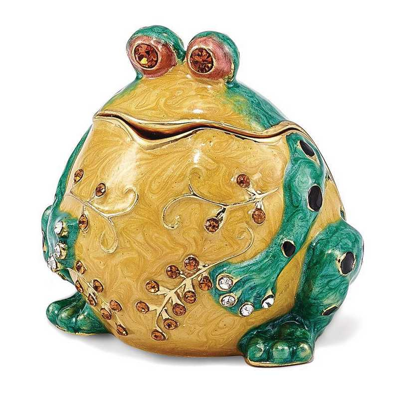 BJ3096: Bejeweled BUBBA Croaking Bullfrog Trinket Box